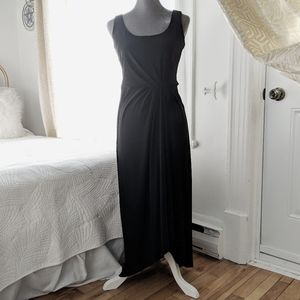 Ralph Lauren - black jersey twist dress
